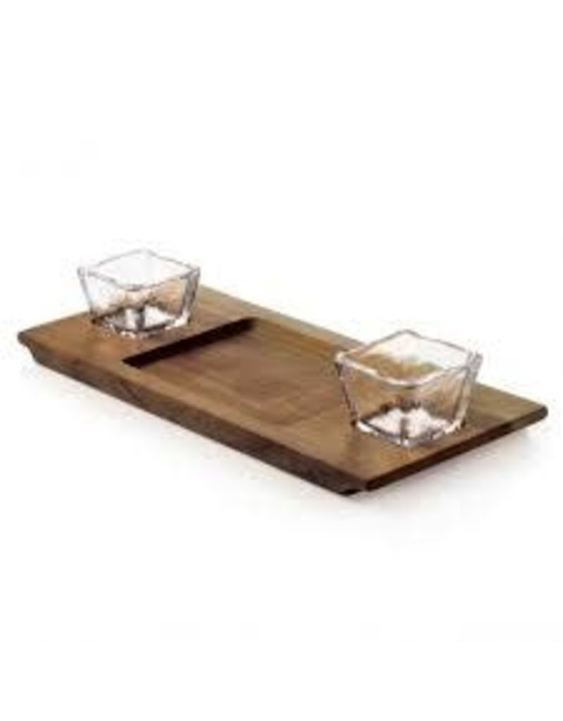 Andrew Pearce Andrew Pearce Dunmore Board with 2 Glass Inserts - Black Walnut