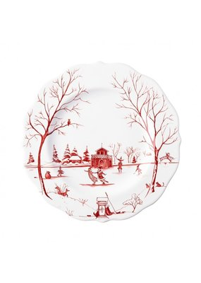 "Juliska Juliska Country Estate Winter Frolic ""The Claus' Christmas Day"" Dessert/Salad Plate"