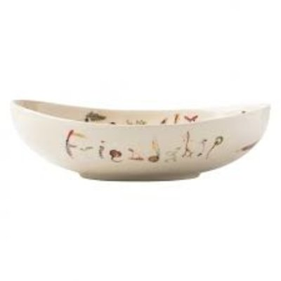 "Juliska Juliska Forest Walk Oval 9"" ""Friendship& Family"" Bowl"