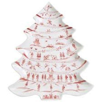 Juliska Juliska CE Winter Frolic Tree Plater- Ruby