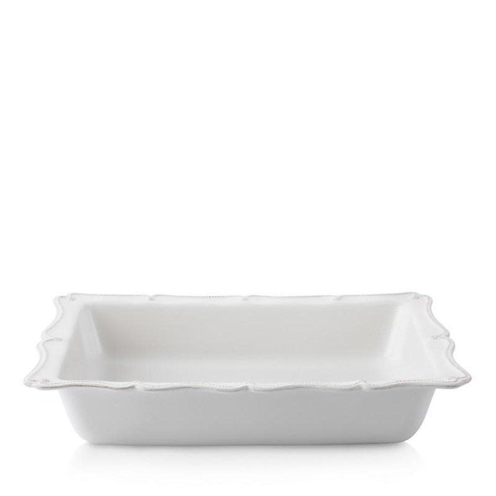 """Juliska Berry & Thread Whitewash 17.5"""" Rectangular Baker"""