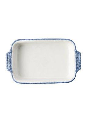 Juliska Juliska Le Panier Rectangular Baker- White/ Delft
