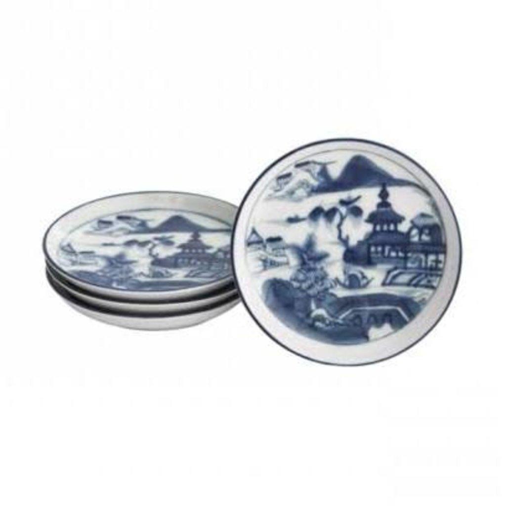 Mottahedeh Mottahedeh Blue Canton Coaster set/4