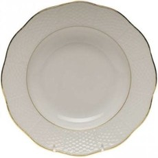 """Herend Herend Golden Edge Rim Soup Plate-8"""""""