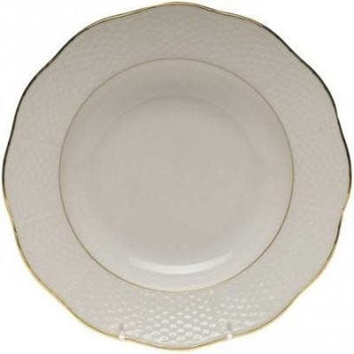 Herend Herend Golden Edge Rim Soup Plate-8""