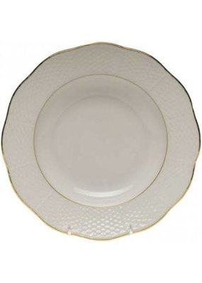 """Herend Herend Golden Edge Rim Soup Plate-9.5"""""""