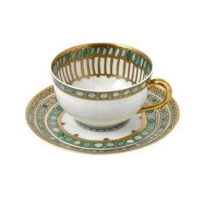 Haviland Haviland Syracuse Turquoise Cup and Saucer