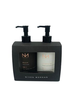 NIVEN MORGAN NIVEN MORGAN NO.1 HAND SET: LILY, WHITE TEA & LEMON ZEST