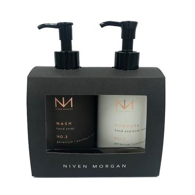 NIVEN MORGAN NIVEN MORGAN NO.3 HAND SET: GERANIUM, PATCHOULI & PEPPER