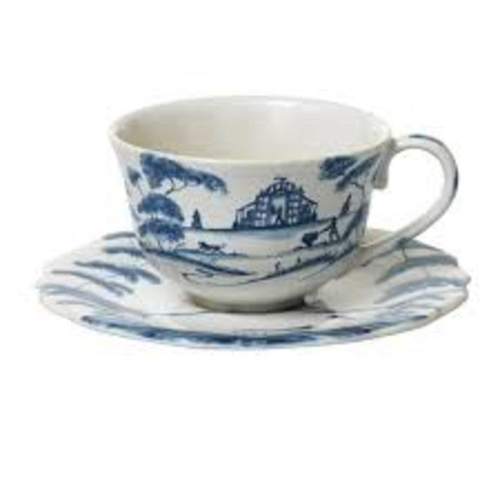 Juliska Juliska Country Estate Tea Cup/Saucer-Delft