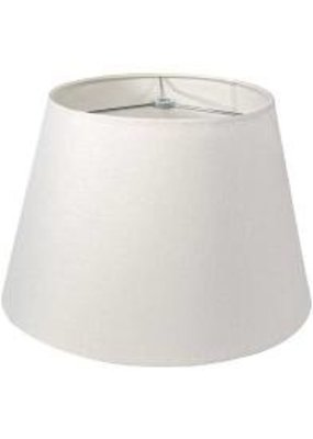 "Simon Pearce Simon Pearce 12"" Linen Pembroke Shade-White"
