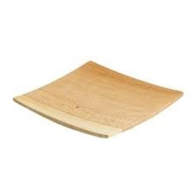 Andrew Pearce Andrew Pearce Wooden plate square  cherry 7 inch
