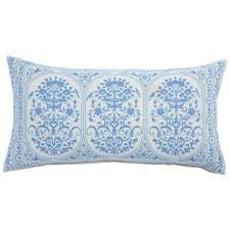 John Robshaw Textiles **disc** John Robshaw Jinna Lapis Bolster Pillow (Insert Pillow Sold Separate)