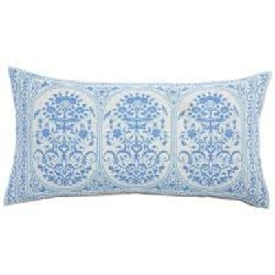 John Robshaw Textiles John Robshaw Jinna Lapis Bolster Pillow (Insert Pillow Sold Separate)