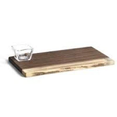 Andrew Pearce Andrew Pearce Board w/ Glass Bowl (Black Walnut)