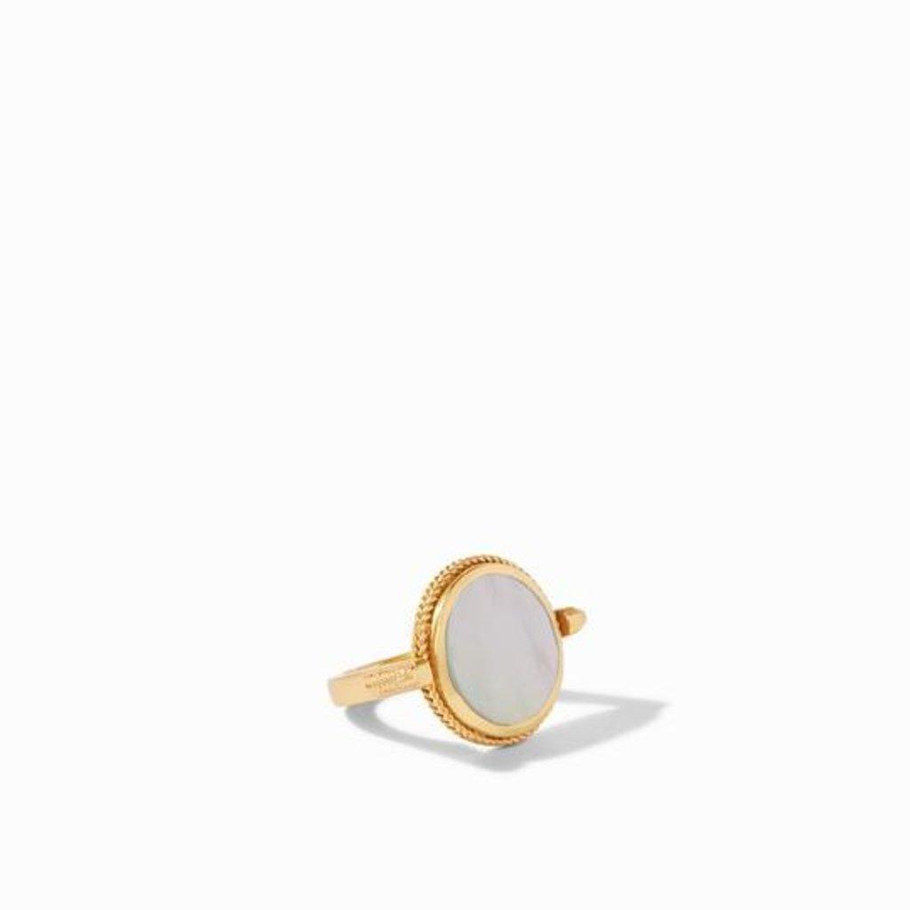 Julie Vos Julie Vos Coin Revolving Ring Gold Black Onyx - Size 7