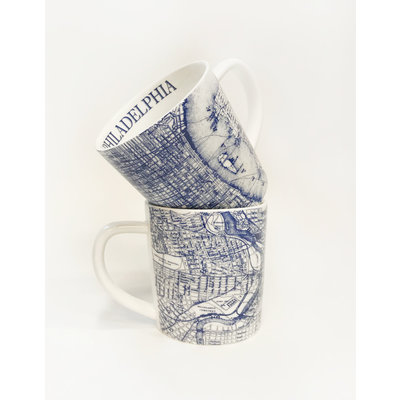 Caskata Caskata for Tailored Home Custom Philadelphia Mug- BLUE