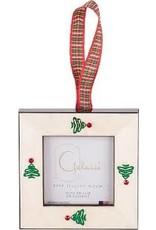 Galassi Galassi White Burl w/ Christmas Trees Ornament Frame