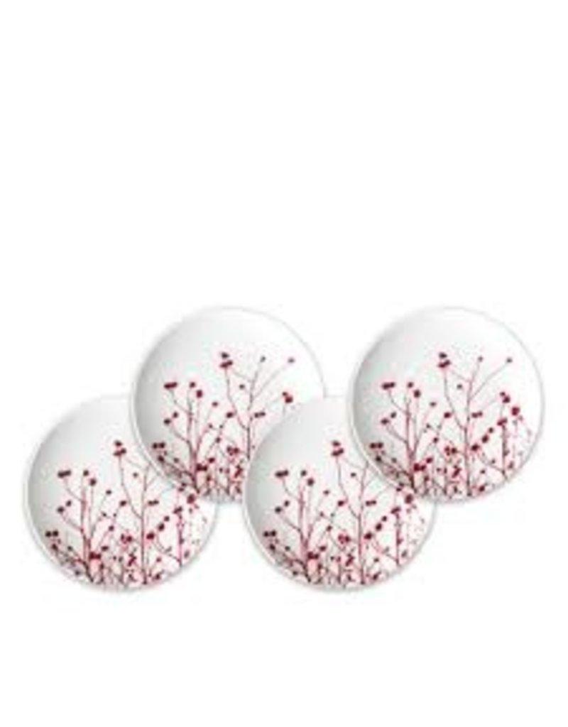 Caskata Caskata Winterberries Canapes S/4 Plates