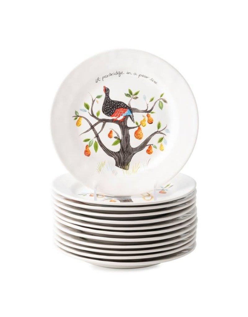 Juliska Juliska CE 12 Days of Christmas Dessert/Salad Plates (Set of 12)