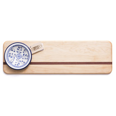 Soundview Millworks Soundview Millworks French Bread Board with Ceramic Dip Bowl
