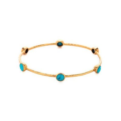 Julie Vos Julie Vos Milano Bangle Turquoise Blue - M