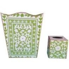Dana Gibson Dana Gibson Mosiac Green Wastebasket