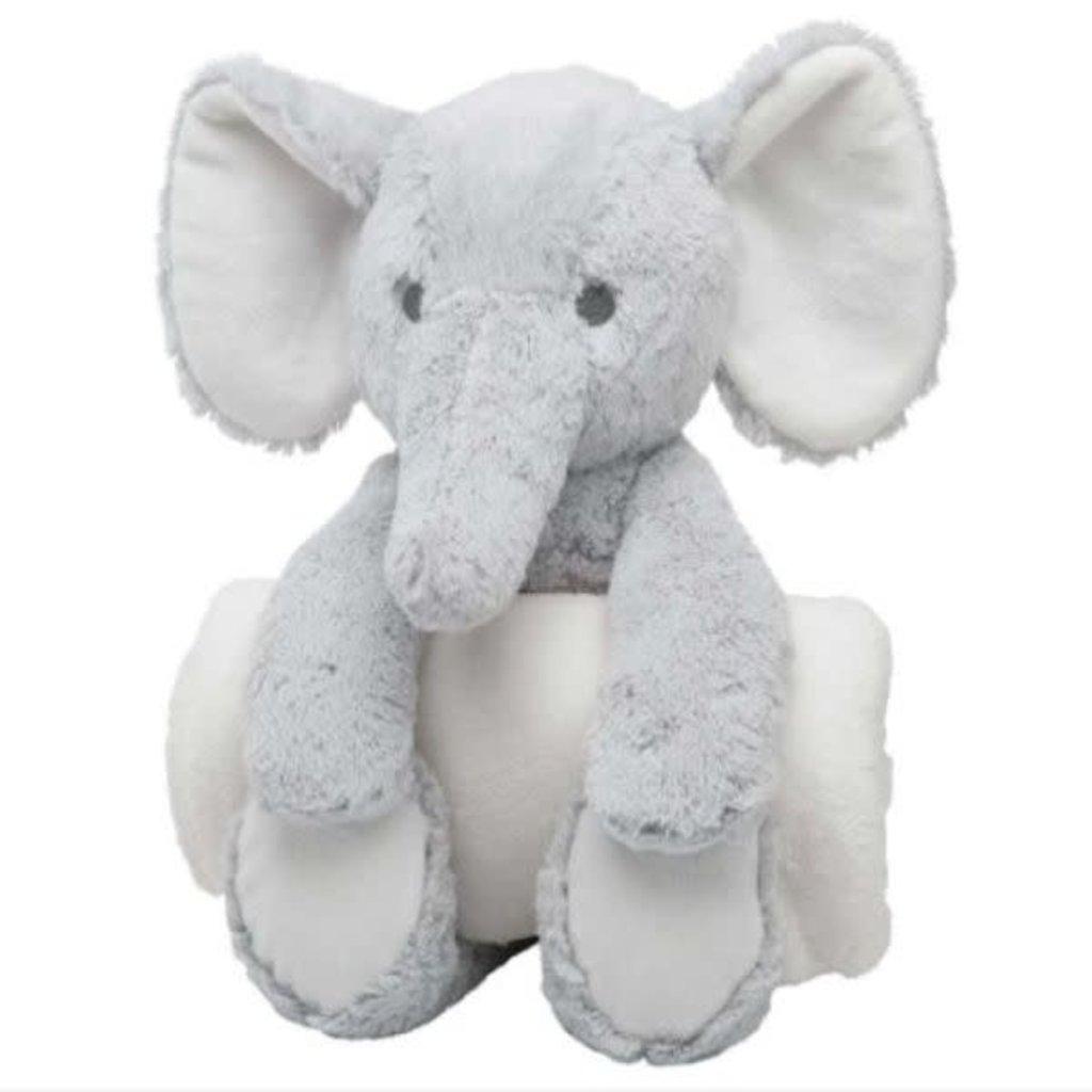 ELEGANT BABY BEDTIME HUGGIE- GRAY ELEPHANT