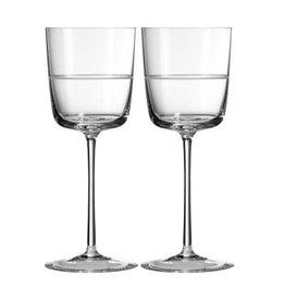 Wedgwood Wedgewood Vera Wang Bande Wine Glass - Pair