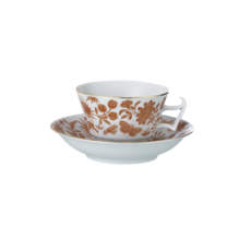 Mottahedeh Mottahedeh Sacred Bird & Butterfly Tea Cup & Saucer