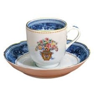 Mottahedeh Mottahedeh Mandarin Bouquet Tea Cup & Saucer