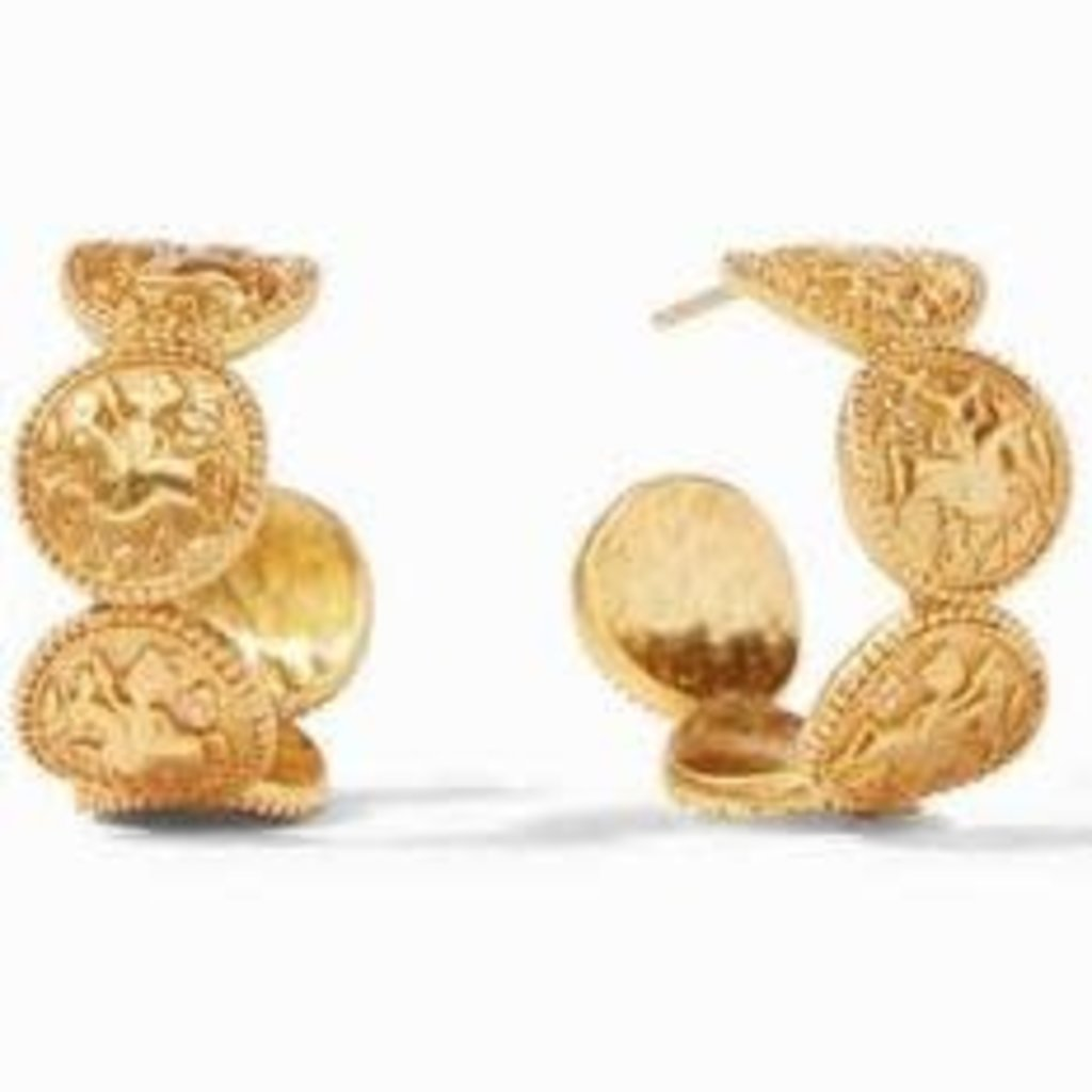 Julie Vos Julie Vos Coin Hoop Gold Medium