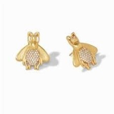 Julie Vos Julie Vos Bee Luxe Earring- CZ