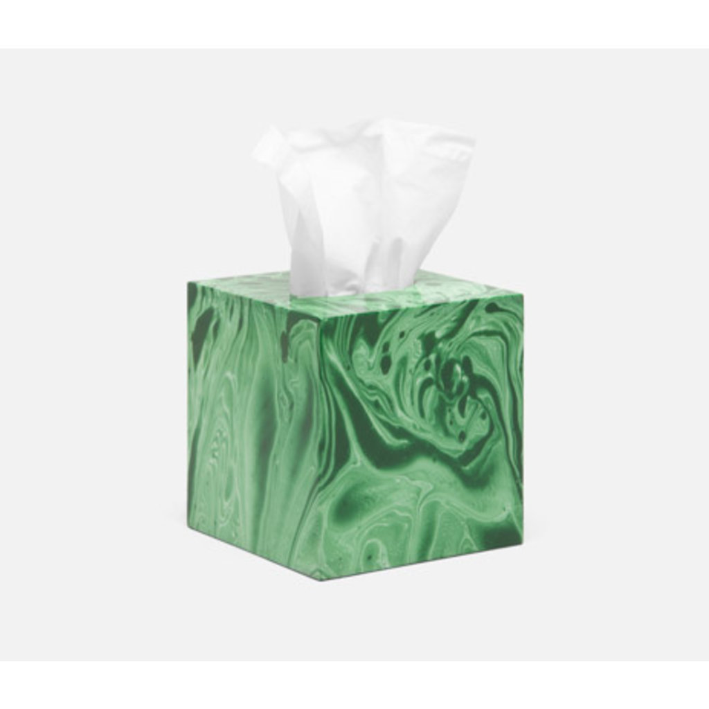 Pigeon & Poodle Pigeon & Poodle Micco Tissue Box- Emerald Marble