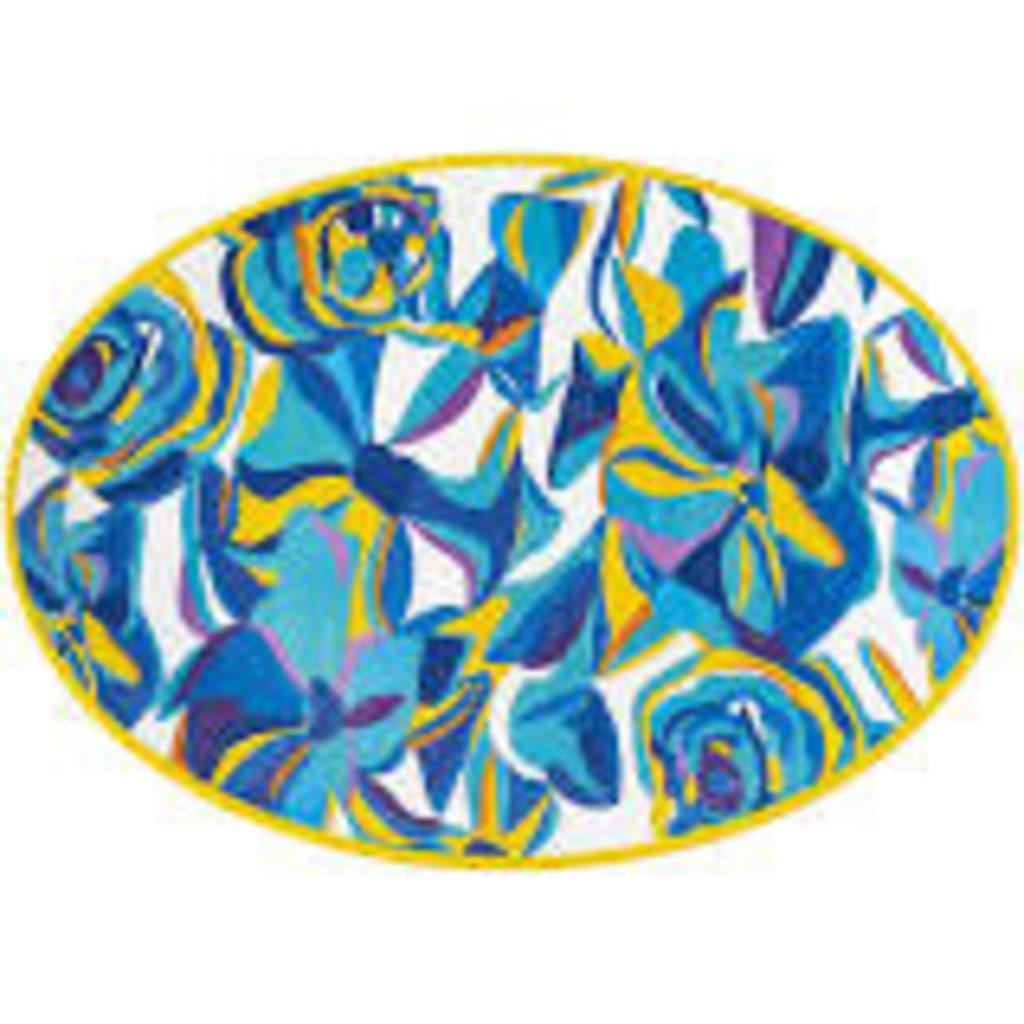 "Juliska Juliska 20"" Melamine Serving Platter- Blue Rose"