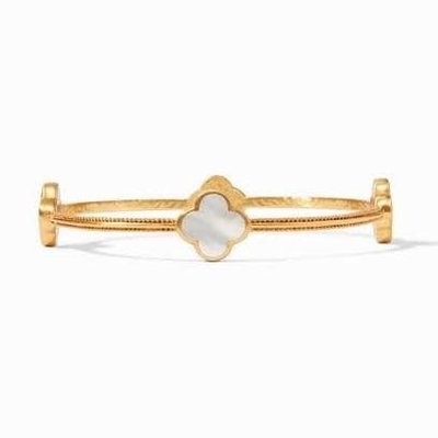 Julie Vos JULIE VOS CHLOE BANGLE BRACELET- MOTHER OF PEARL