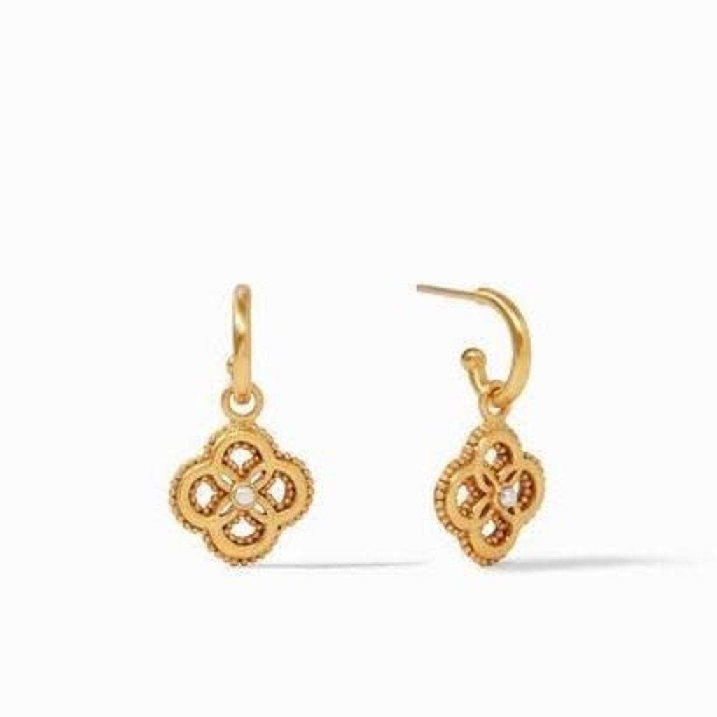 Julie Vos Julie Vos Chloe Hoop & Charm Earring- Gold/Pearl