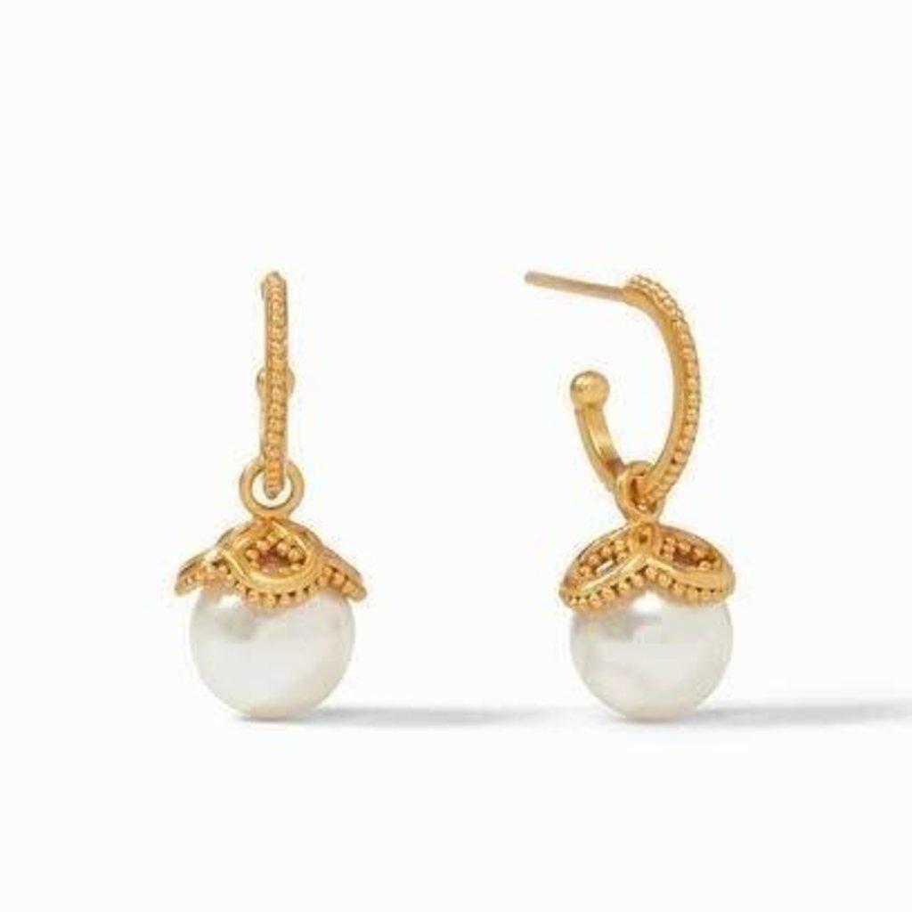 Julie Vos Julie Vos Chloe Pearl Hoop & Charm Earring
