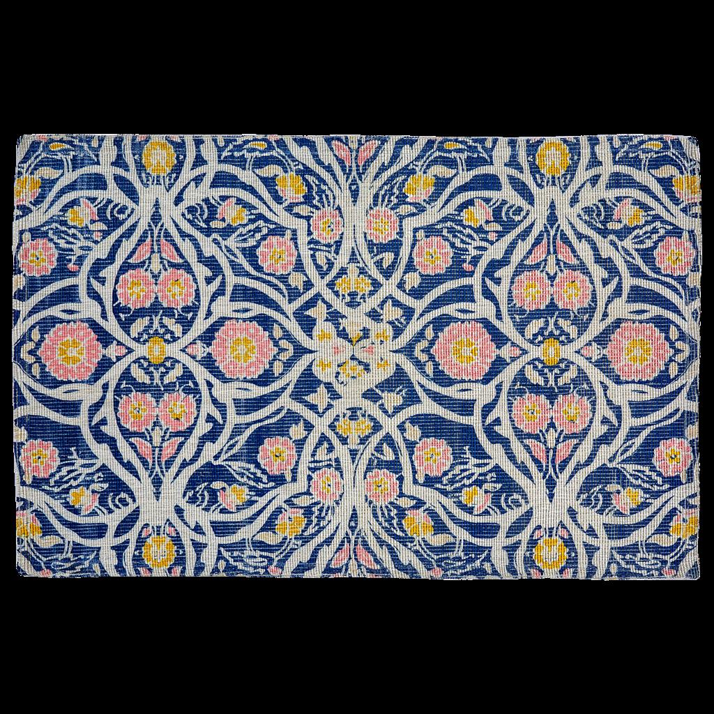 John Robshaw Textiles John Robshaw Avela Indigo Printed Indoor/Outdoor Rug
