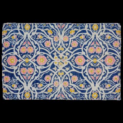 John Robshaw Textiles *Disc* John Robshaw Avela Indigo Printed Indoor/Outdoor Rug