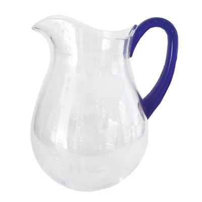 Caspari CASPARI CLEAR ACRYLIC W/ COBALT BLUE HANDLE - TTOP ACRYLIC PITCHER - 64 OZ