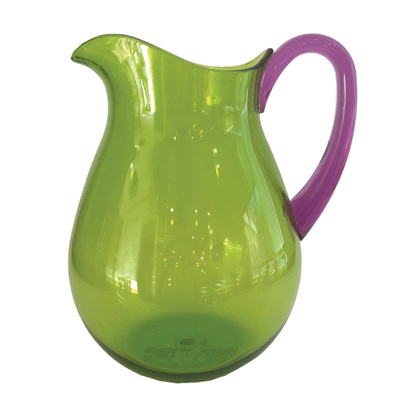 Caspari CASPARI GREEN ACRYLIC WITH AMETHYST HANDLE - TTOP ACRYLIC PITCHER - 64 OZ