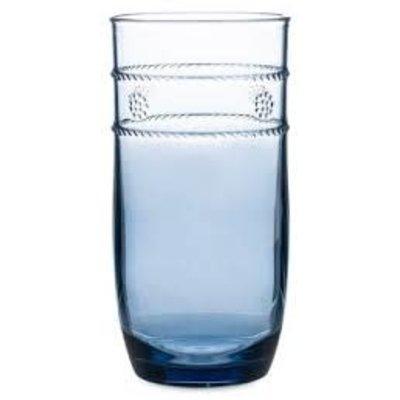 """Juliska Juliska Large Beverage Isabella Acrylic Blue 6""""H"""