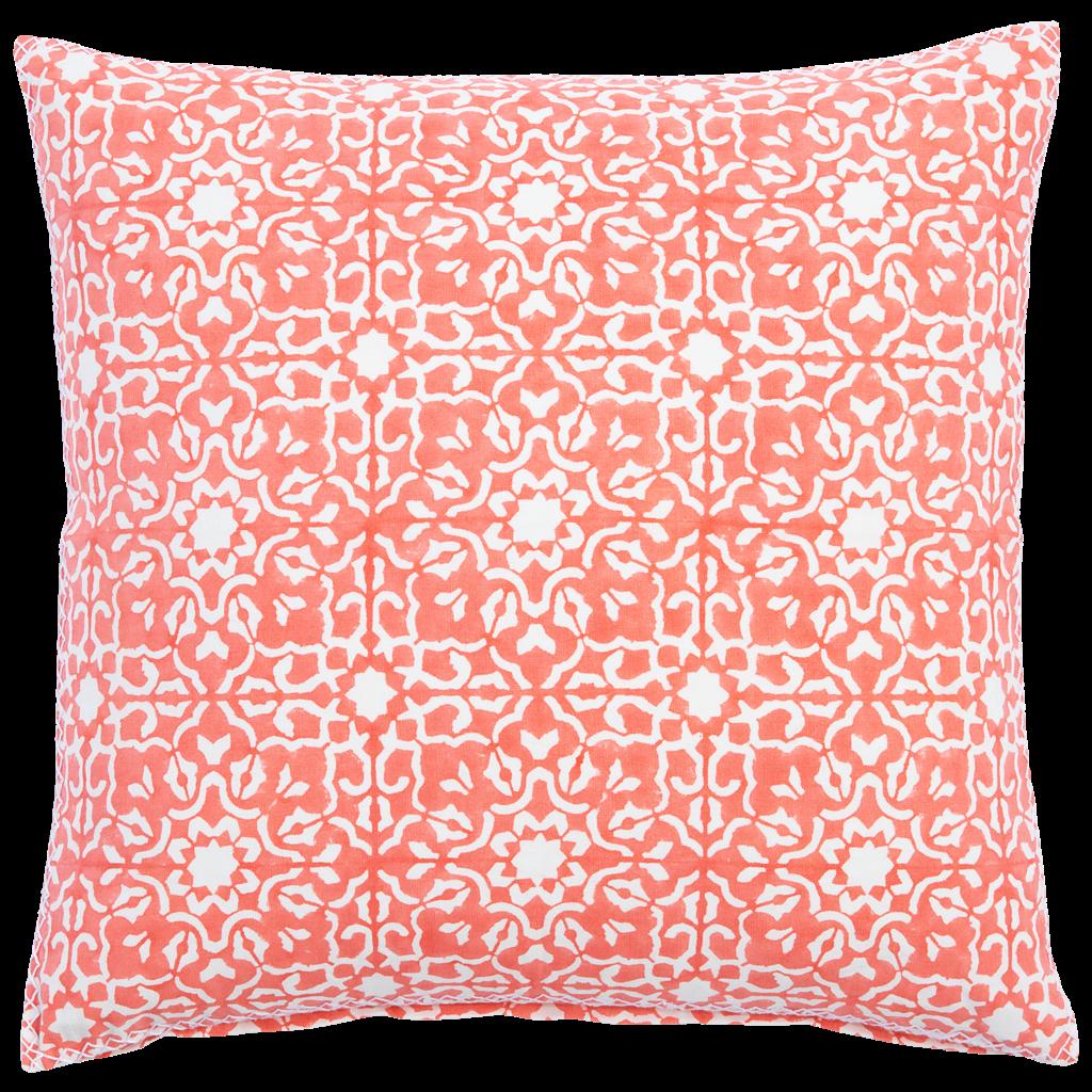 John Robshaw Textiles John Robshaw Lavanna Coral Decorative Pillow (Insert Sold Separately)