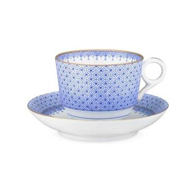 Mottahedeh Mottahedeh Cornflower Lace Teacup & Saucer