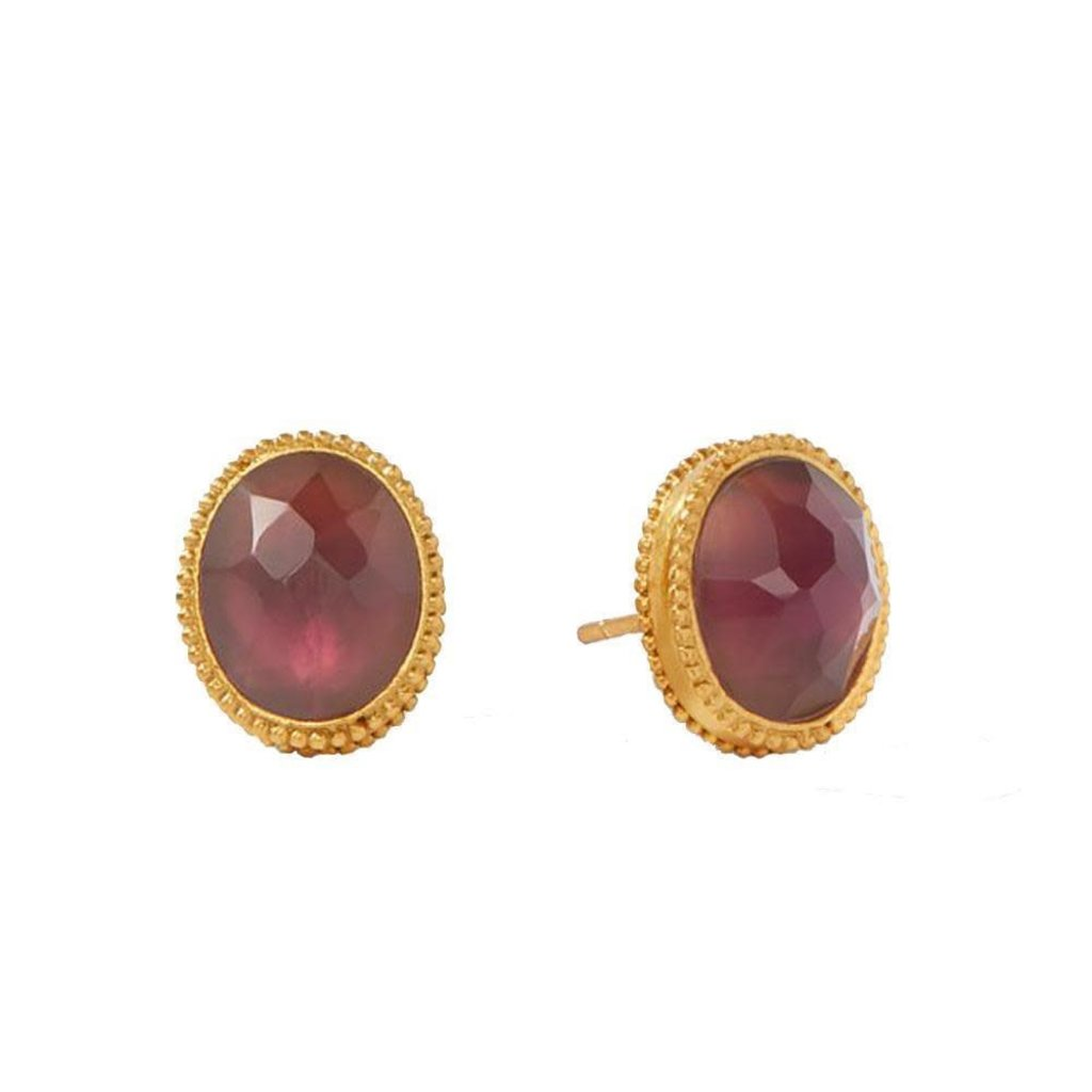 Julie Vos Julie Vos Verona Stud Gold Iridescent Bordeaux