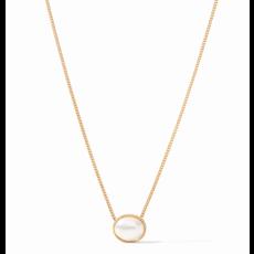 Julie Vos Julie Vos Verona Solitaire Necklace Gold Pearl