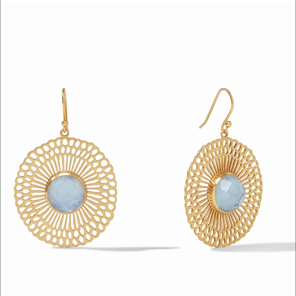 Julie Vos Julie Vos Soleil Earring - Chalcedony Blue