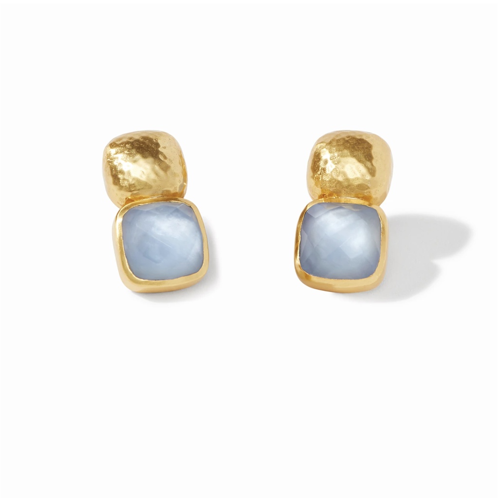 Julie Vos Julie Vos Catalina Earring Chalcedony Blue