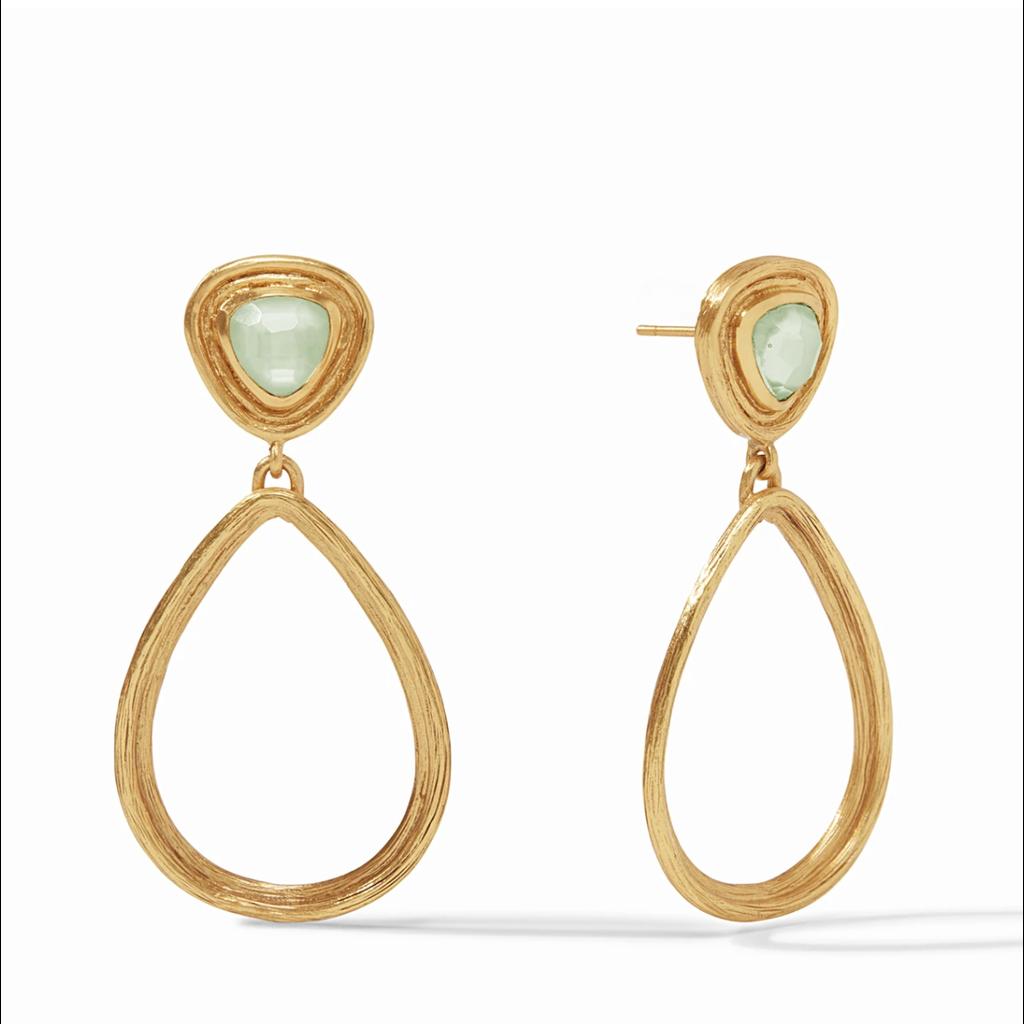 Julie Vos Julie Vos Barcelona Statement Earrings- Iridescent Seaglass Green